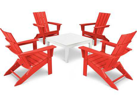 POLYWOOD® Quattro Recycled Plastic 5 Piece Conversation Set