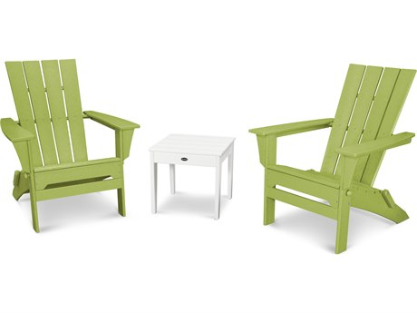 POLYWOOD® Quattro Recycled Plastic 3 Piece Adirondack Set