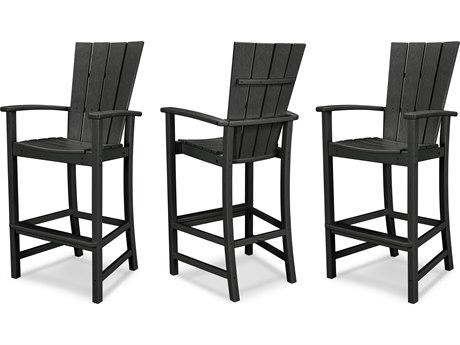 POLYWOOD® Quattro Recycled Plastic 3 Piece Bar Set