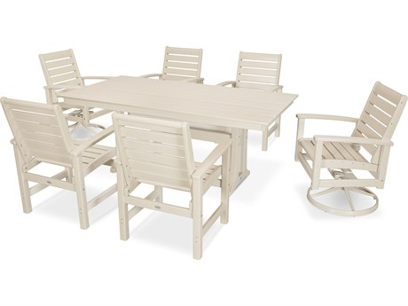 POLYWOOD® Signature Recycled Plastic 7 Piece Dining Set