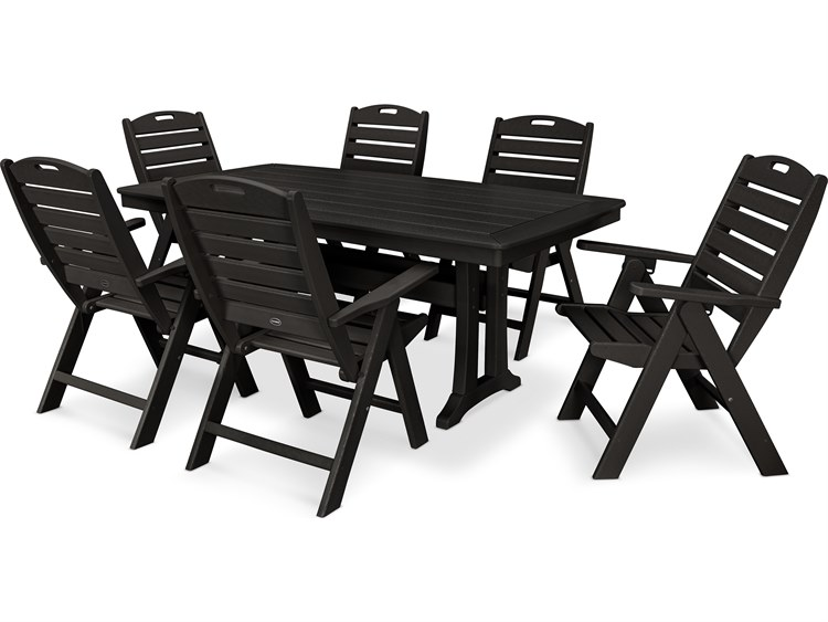 POLYWOOD® Nautical Recycled Plastic 7 Piece Dining Set