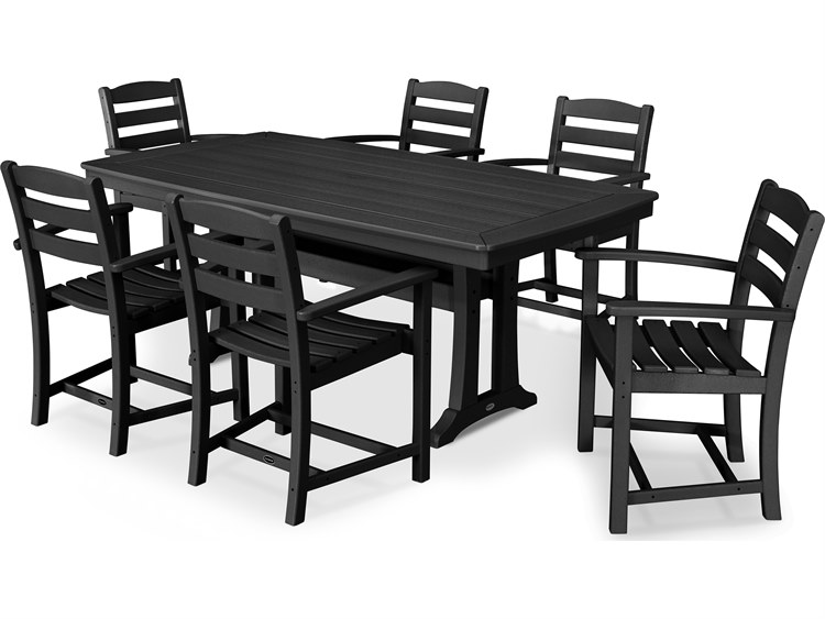 POLYWOOD® La Casa Cafe Recycled Plastic 7 Piece Piece Dining Set PatioLiving