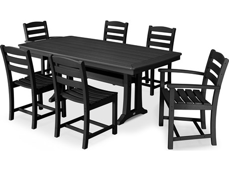 POLYWOOD® La Casa Cafe Recycled Plastic 7 Piece Dining Set