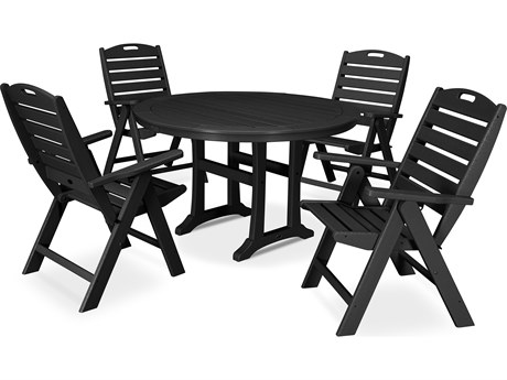 POLYWOOD® Nautical Recycled Plastic 5 Piece Dining Set