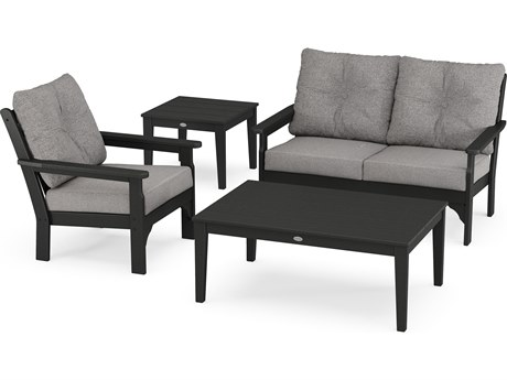 POLYWOOD® Vineyard Recycled Plastic 4 Piece Deep Seating Lounge Set