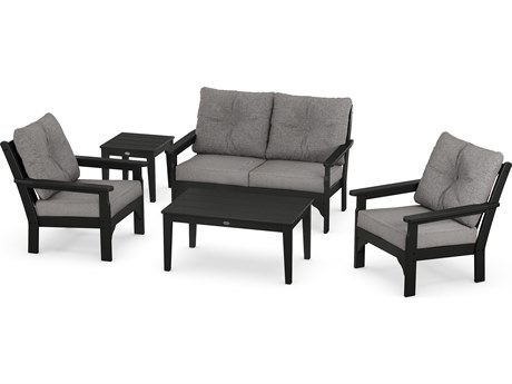 POLYWOOD® Vineyard Recycled Plastic 5 Piece Deep Seating Lounge Set