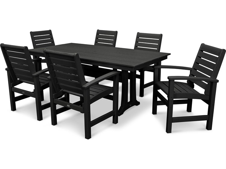 POLYWOOD® Signature Recycled Plastic Farmhouse 7 Piece Dining Set PatioLiving