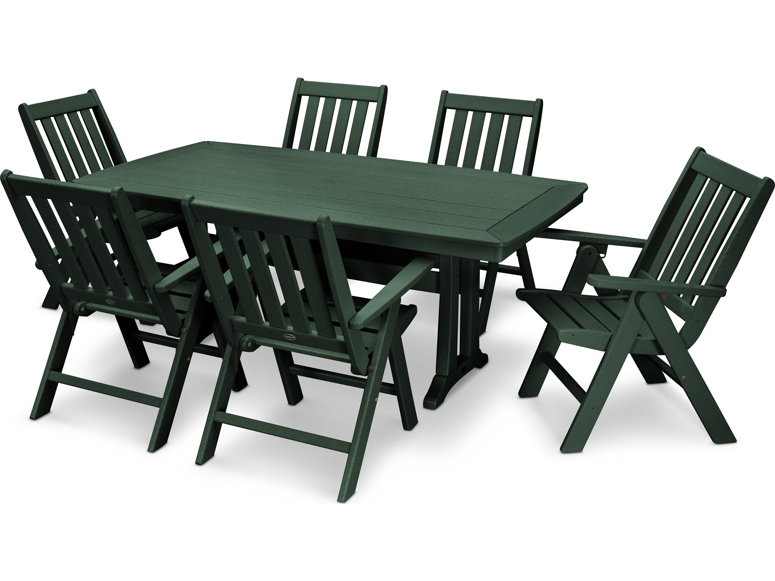 POLYWOOD® Vineyard Recycled Plastic Dining Set | PWS344 1