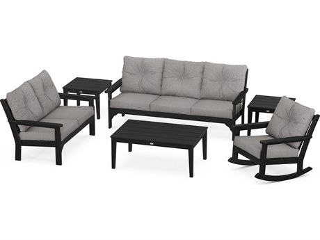 POLYWOOD® Vineyard Recycled Plastic 6 Piece Deep Seating Lounge Set