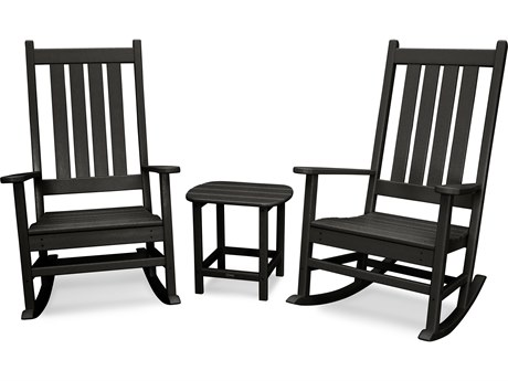 POLYWOOD® Vineyard Recycled Plastic 3 Piece Roicking Lounge Set