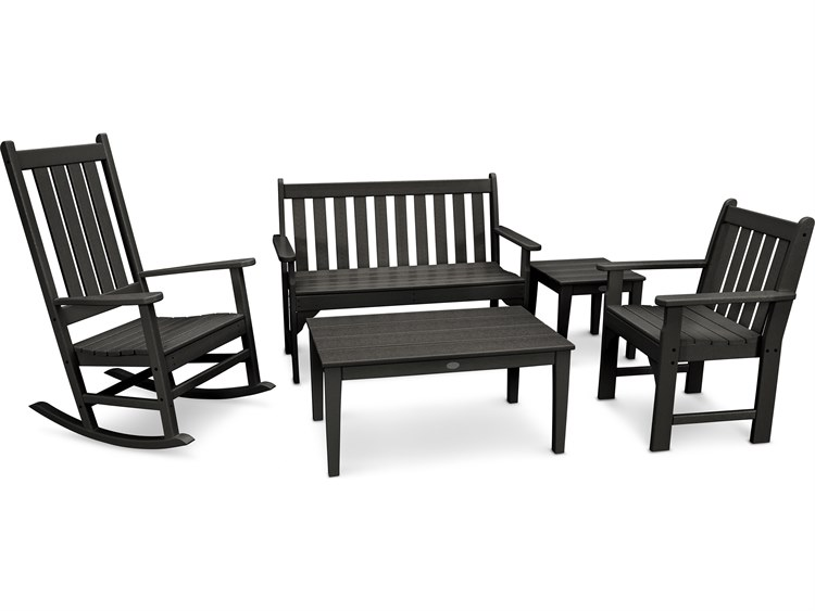 POLYWOOD® Vineyard Recycled Plastic 3 Piece Lounge Set PatioLiving