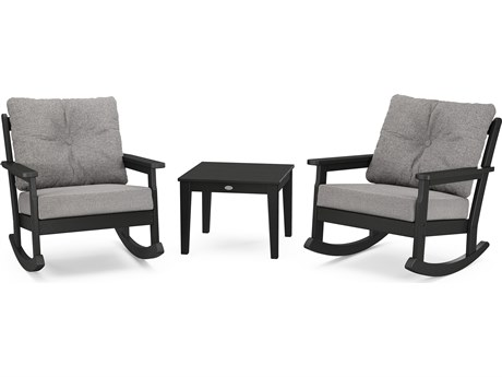 POLYWOOD® Vineyard Recycled Plastic 3 Deep Seating Rocker Lounge Set