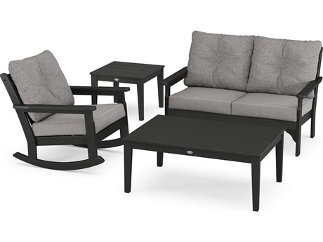 POLYWOOD® Vineyard Recycled Plastic 4 Deep Seating Rocker Lounge Set