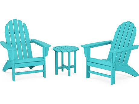 POLYWOOD® Vineyard Recycled Plastic 3 Piece Adirondack Lounge Set