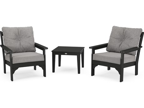 POLYWOOD Vineyard 3-Piece Deep Seating Set
