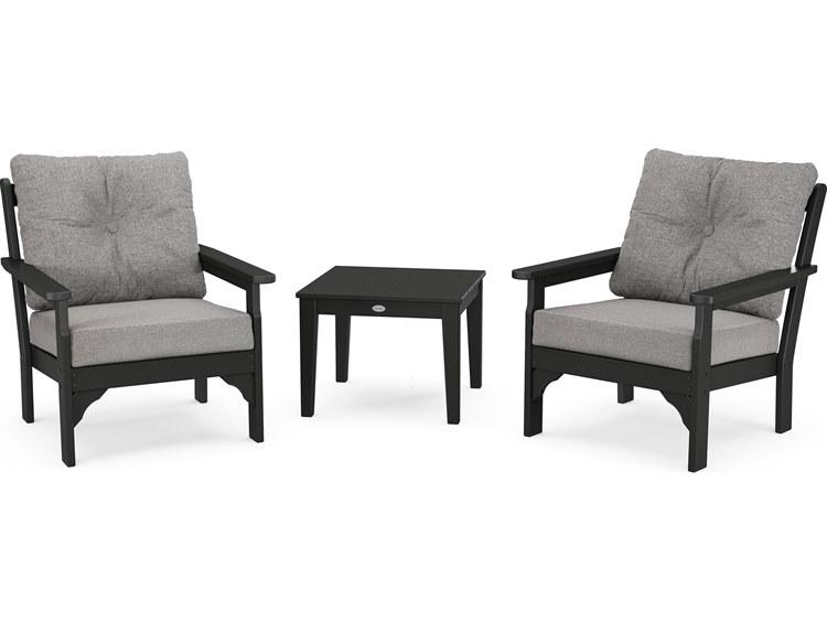 POLYWOOD Vineyard 3-Piece Deep Seating Set PatioLiving