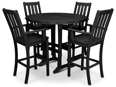 POLYWOOD® Vineyard Recycled Plastic 5 Piece Bar Set