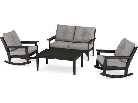 POLYWOOD® Vineyard Recycled Plastic 4 Piece Lounge Set