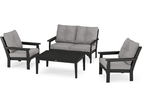 POLYWOOD® Vineyard Recycled Plastic 4-Piece Deep Seating Lounge Set