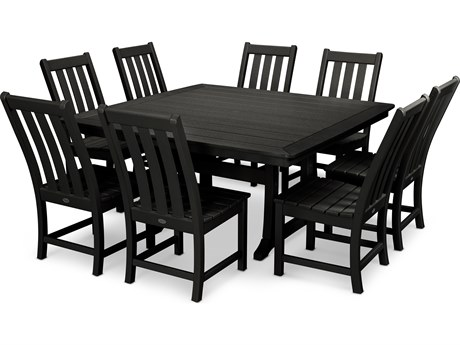 POLYWOOD® Vineyard Recycled Plastic 9 Piece Dining Set