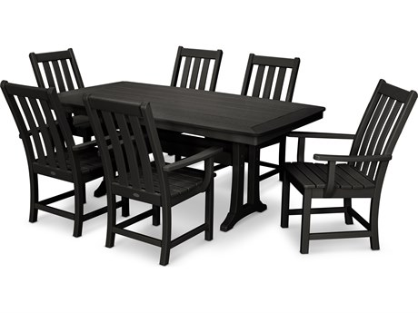 POLYWOOD® Vineyard Recycled Plastic 7 Piece Dining Set