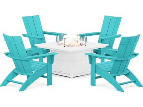 POLYWOOD® Modern Recycled Plastic Lounge Set PatioLiving