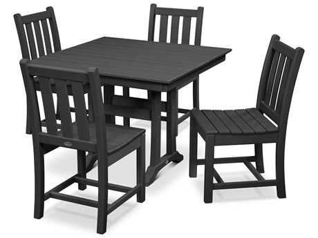 POLYWOOD® Traditional Recycled Plastic 5 Piece Farmhouse Dining Set