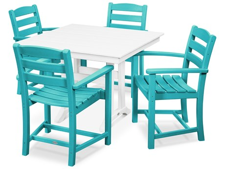 POLYWOOD® La Casa Recycled Plastic 5 Piece Farmhouse Dining Set