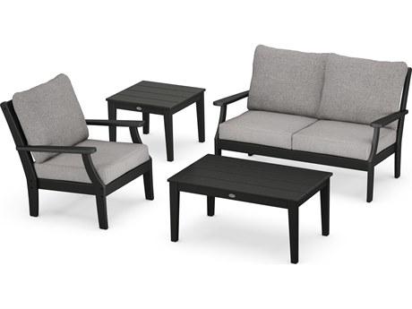 POLYWOOD® Braxton Recycled Plastic Cushion Lounge Set