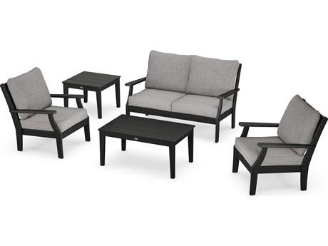 POLYWOOD® Braxton Recycled Plastic Cushion Lounge Set PatioLiving