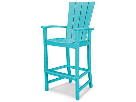 POLYWOOD® Quattro Recycled Plastic Adirondack Bar Chair