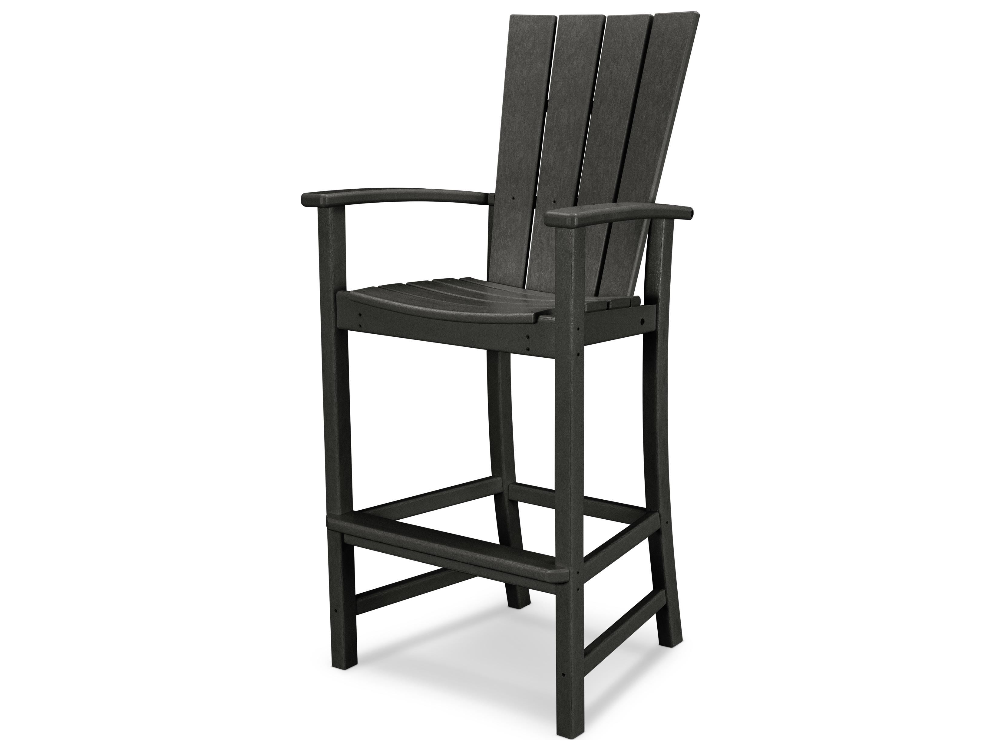 Polywood 174 Quattro Recycled Plastic Adirondack Bar Chair