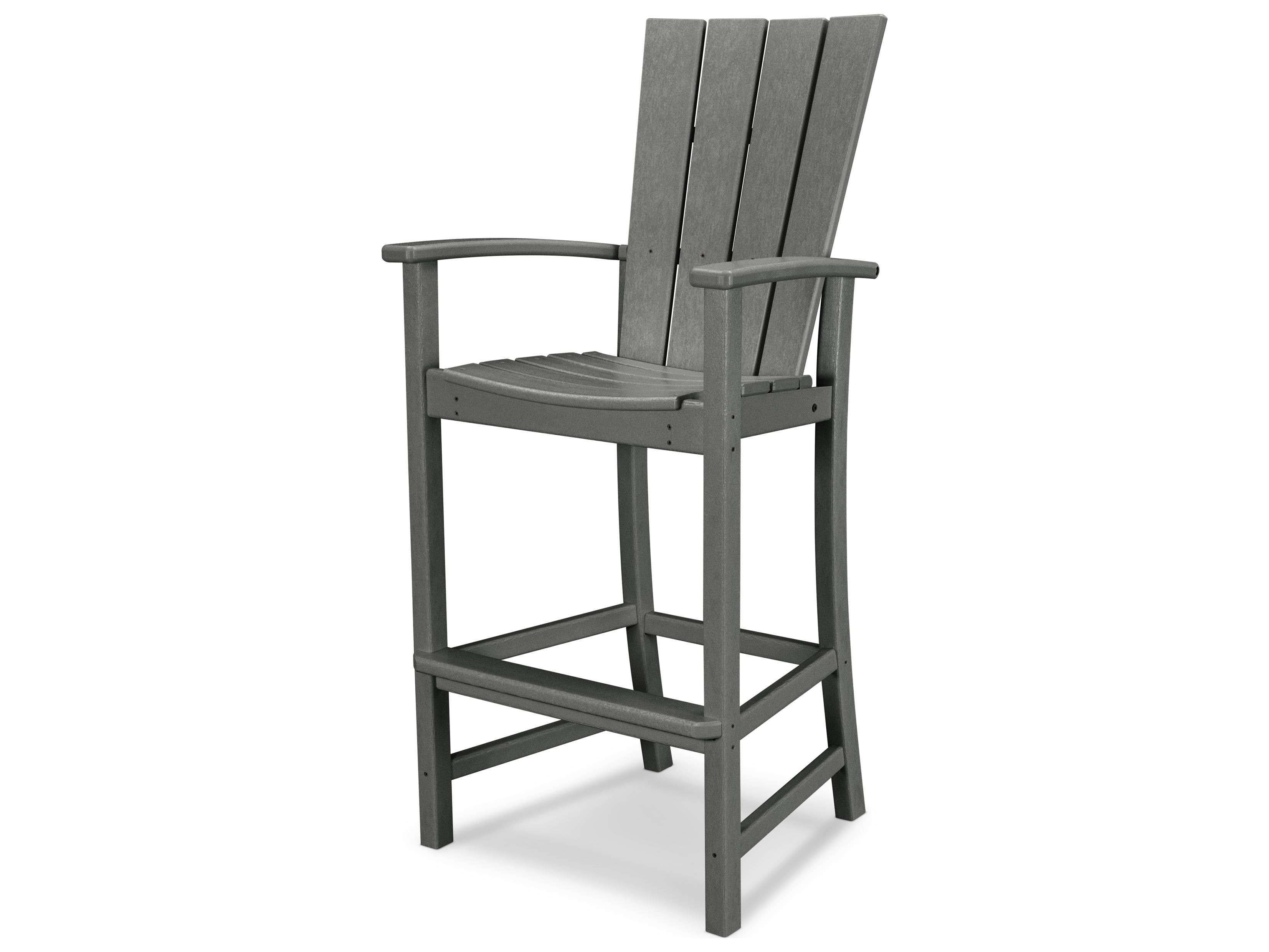 Polywood quattro recycled plastic adirondack bar chair - Chaise adirondack plastique recycle costco ...