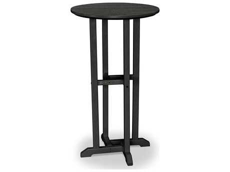 Polywood Traditional Recycled Plastic 24 Round Bar Height Table