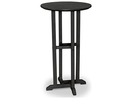 POLYWOOD® Traditional Recycled Plastic 24''Wide Round Bar Height Table