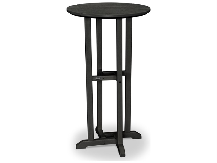 POLYWOOD® Traditional Recycled Plastic 24 Round Bar Height Table