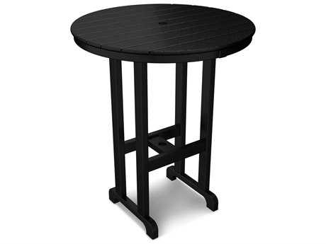 POLYWOOD® Traditional Recycled Plastic 36 Round Bar Height Table