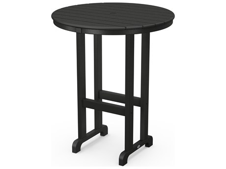 POLYWOOD® Traditional Recycled Plastic 36''Wide Round Bar Height Table