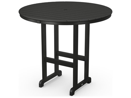 POLYWOOD® Traditional Recycled Plastic 48''Wide Round Bar Height Table
