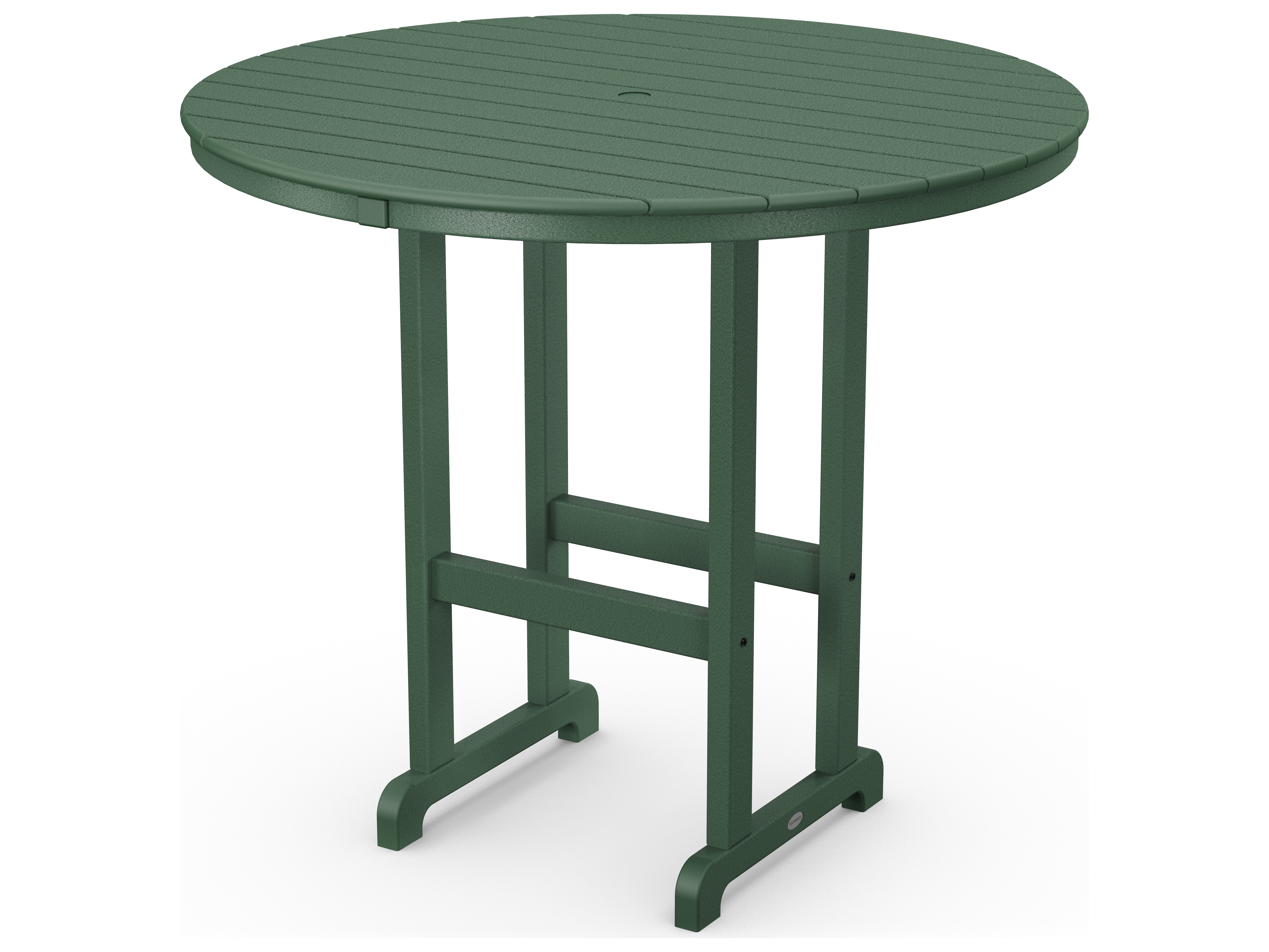 Polywood 174 Traditional Recycled Plastic 48 Wide Round Bar