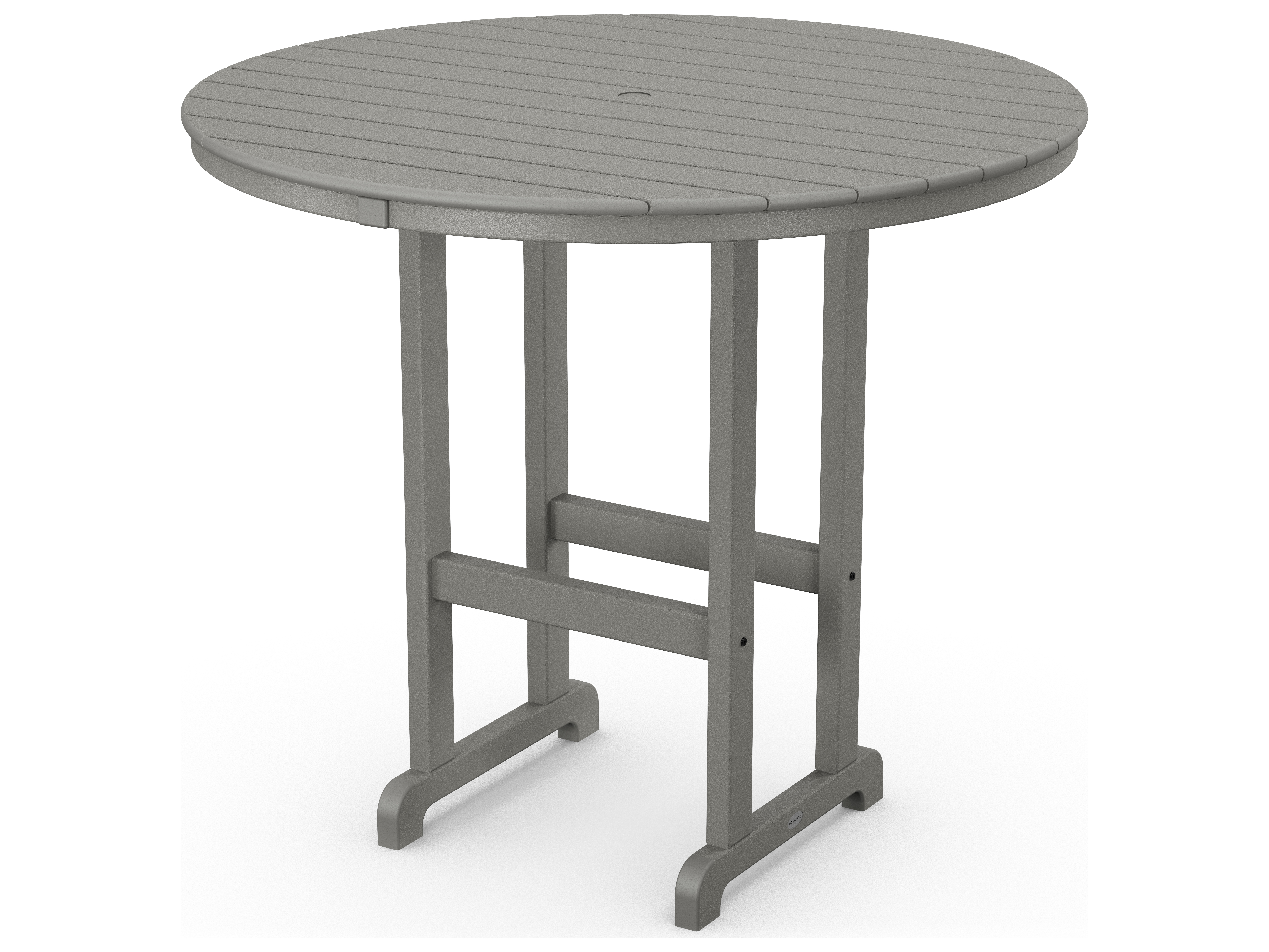 Polywood 174 Traditional Recycled Plastic 48 Round Bar Height