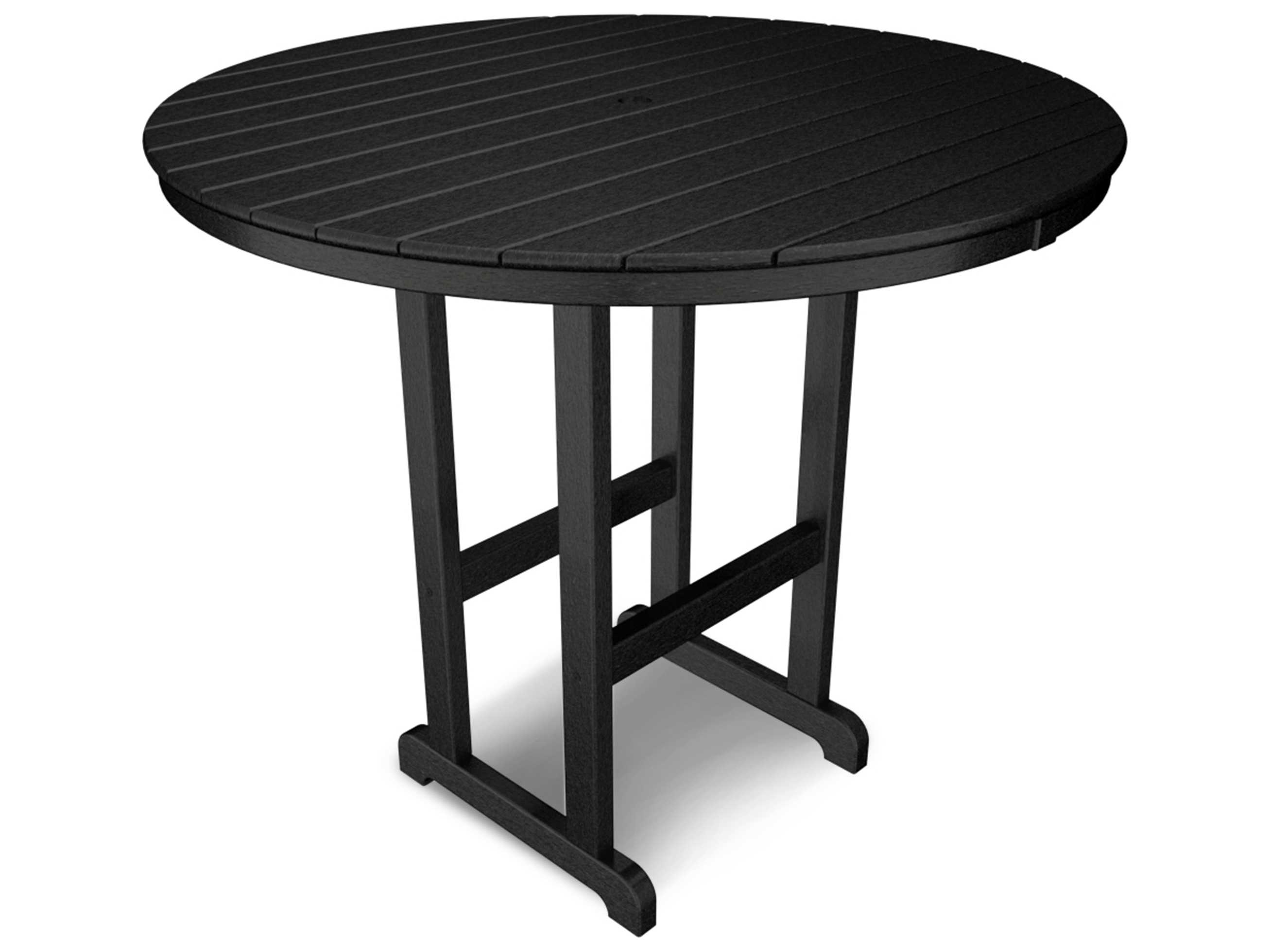 polywood traditional recycled plastic 48 round bar height table pwrbt248. Black Bedroom Furniture Sets. Home Design Ideas