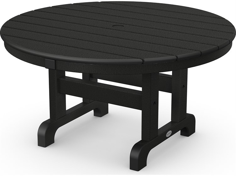 POLYWOOD® Traditional Recycled Plastic 36''Wide Round Chat Table PatioLiving