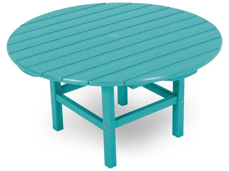 POLYWOOD® Traditional Recycled Plastic 38''Wide Round Conversation Table PatioLiving