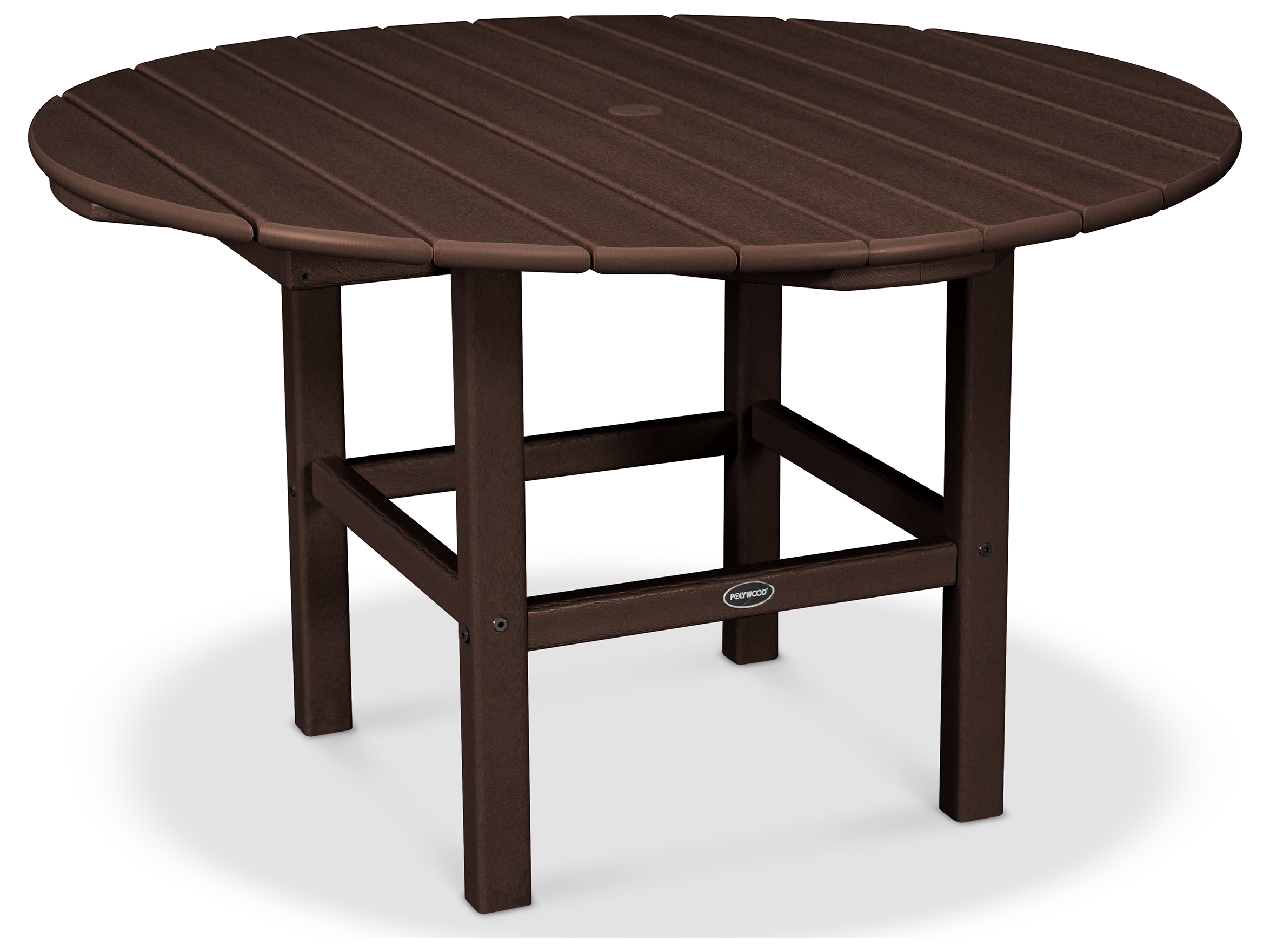 Polywood 174 Kids Recycled Plastic 38 Wide Round Dining