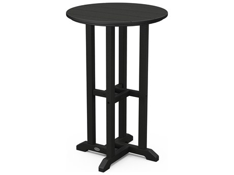 POLYWOOD® Traditional Recycled Plastic 24 Round Counter Height Table