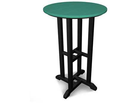 POLYWOOD® Contempo Recycled Plastic 24 Round Counter Height Table