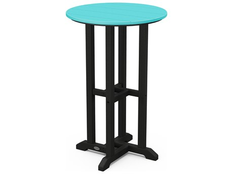POLYWOOD® Contempo Recycled Plastic 24''Wide Round Counter Height Table