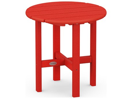 POLYWOOD® Traditional Recycled Plastic 18''Wide Round End Table PatioLiving