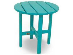 Traditional Recycled Plastic 18 Round End Table